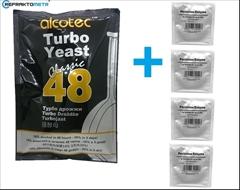 Turbo Kvasnice AL48+Enzymy (na 100l ovocného kvasu) - Set turbokvasnic alcotec 48 s enzymy pektinázy, pro dokonalé prokvašení 100 litrů ovocného kvasu.