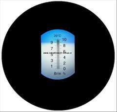 Refraktometr®, řezné emulze 0-10%  Profesionální - Refraktometr k měření koncentrace procesních kapalin (řezných emulzí)- mosazné tělo