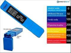 Měřič kvality vody-TDS metr  0–9990 ppm - TDS metr pro měření kvality vody. Vhodný zejména jako pomocník při ředění destilátu.  Tento přístroj Vám pomůže předejít nežádoucímu zákalu v ředěné pálence.