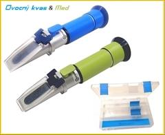 SET6-XM Ovocný kvas a med|0-27%°CK|0-30% voda| - SET6-M , sada dvou refraktometrů pro měření ovocného kvasu a vody v medu.