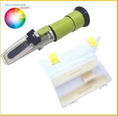 REF60-HM Med 12-27% voda 58-90% °Bx 38-43%°Be´ - Profesionální refraktometr na MED určený převážně pro včelaře. Přístroj měří obsah cukru v medu, obsah vody v medu a hustotu medu. Rozsah cukernatosti je v rozmezí 58-90%. Refraktometr je vybaven ATC (automatickou kompenzací teploty).  Refraktometry na Med jsou nedílnou součástí při měření kvality Vašeho medu.