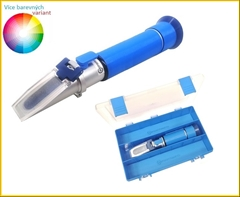 REF80-M Refraktometr na alkohol|0-80 obj.% - Profesionální refraktometr pro měření alkoholu v destilátech. Stačí nanést 1-2 kapky kapaliny na hranol, sklopit krytku a můžete rovnou odečíst hodnotu objemových procent alkoholu ve Vašem destilátu