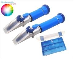 SET3-M Cukroměr a lihoměr 0-32%°Brix|0-80 obj.% - Cenově výhodný PROFESIONÁLNÍCH refraktometrů pro přípravu destilátu. Obsahuje 1x refraktometrický cukroměr a 1x refraktometrický lihoměr to vše v jednom praktickém kufříku.