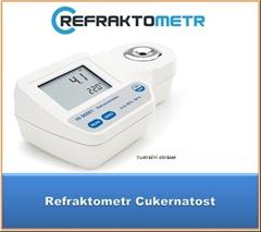 Digitalní refraktometr 0-85%brix - Digitalní refraktometr k měření obsahu cukru ve vzorcích,vhodný k měření cukernatosti kvasu , ovocných šťáv. Možné další použití: měření mleziva,řezné emulze v jednotkách Brix.