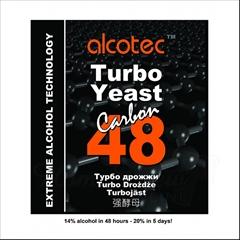 Turbo Kvasnice Alcotec  48 Carbon - Turbo Alcotec 48h Carbon kvasnice pro cukerný kvas  Fermentace s aktivním uhlím