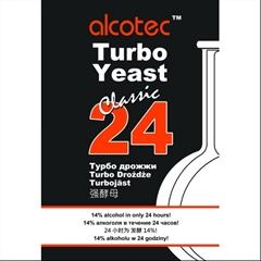 Turbo Kvasnice Alcotec 24h - Alcotec 24 Turbo kvasinky je nejrychlejší turbo v galaxii. z nuly na 14% za 24hodin.