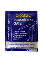 Kvasnice Alcotec Vodka Star - Alcotec VodkaStar turbo kvasnice obsahuje vysoce čisté kvasinkové kmeny, které jsou vybrány pro svou schopnost vytvářet velmi čistý alkohol.